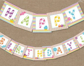 Ladybug Printable Happy Birthday Party Banner Instant