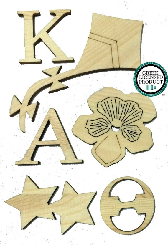 Kappa Alpha Theta Wood Cut Outs For Sorority Crafts And Gifts
