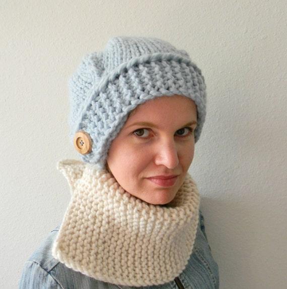 Knit Slouchy Hat Pattern Bulky Yarn : Knitting Pattern Kay Slouchy Knit Slouchy Hat Slouchy