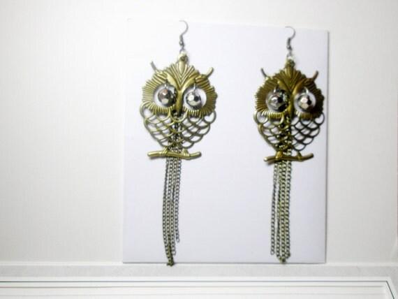 Owl Earrings  Bird Earrings Gift For Her Under 20