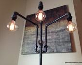 Adjustable Floor Lamp - Industrial Furniture - Multiple Edison Bulbs - Sofa Lamp
