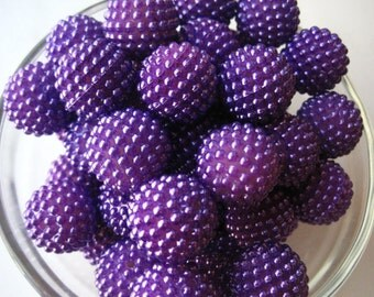 Purple Bumpy Bead, 20mm Berry Bead, 6 pcs, Bubblegum Beads, Pearl Berry Bead, Gumball Bead, Acrylic Bead, Chunky Beads