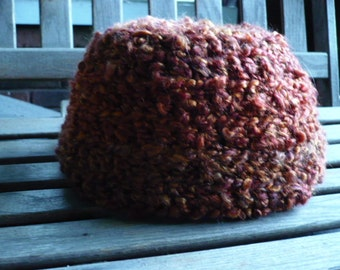 Rust bulky yarn cap