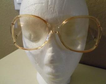 Vintage Luxottica Luciana Avant Garde Italy prescription eyeglasses brown rose
