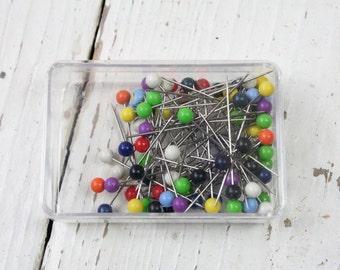 Dressmaker's Pins, Plastic Headed Straight Classic Pins, 10g, Sewing