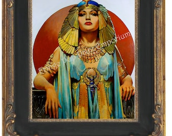 Art Nouveau Art Deco Cleopatra Art Print 8 x 10 - Gypsy Cleopatra Flapper Pin Up - Egyptian