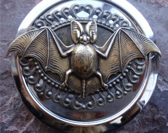 Bat Compact Mirror - Victorian Steampunk - Goth - Horror - Vampire - Make Up - Cosmetics - Pocket Mirror