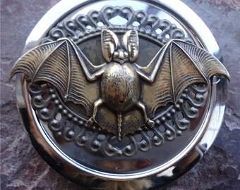 Bat Compact Mirror - Victorian Steampunk - Goth - Horror - Vampire - Make Up - Cosmetics - Pocket Mirror