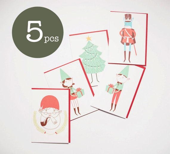 Tarjeta de Navidad Pack - Holiday Greeting card - Holiday Card Pack