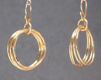 Hammered multi circle earrings Venus 80