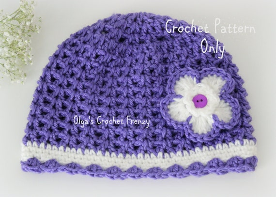 Crochet Hat Sizes : Stitch Crochet Girls Hat Pattern, Size 3-5 Years Old, Easy to Make ...
