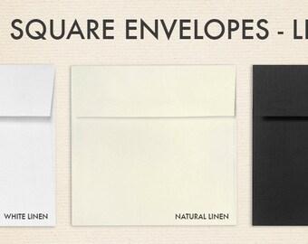 6 x 6 Square Envelopes w/Peel & Press - Linen Collection (50 Qty.)