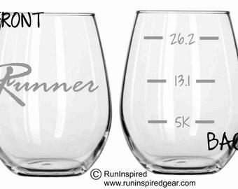 Running Runner Glass  FUNNY Choose from Pilsner, Beer Mug, Wine Glass, Stemless Wine Glass, Pub, Rocks or Coffee Mug