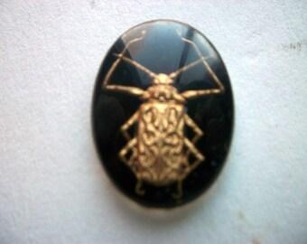 Vintage Glass Intaglio of a Bug/Scarab