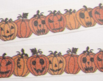 Jack-o-Lantern Orange Pumpkin Halloween Washi Tape - K810