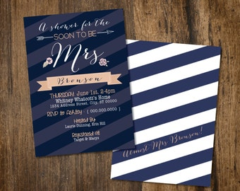 Soon to be Bridal Shower Invitation CUSTOMIZABLE
