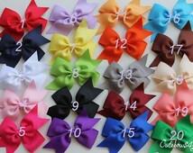 SET of 20 NON SLIP hair bows, 10% off bows, Cutebows4girl, Birthday gift set, girl bow, girl hair bows for baby girl, hairbows, baby, BM1