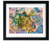 11 x 8.5 Abstract Pastel Art Print - Signed & Numbered - Free Shipping