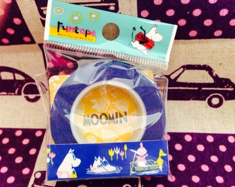 Cute Moomin Washi Masking Tape Blue - Japanese Stationary