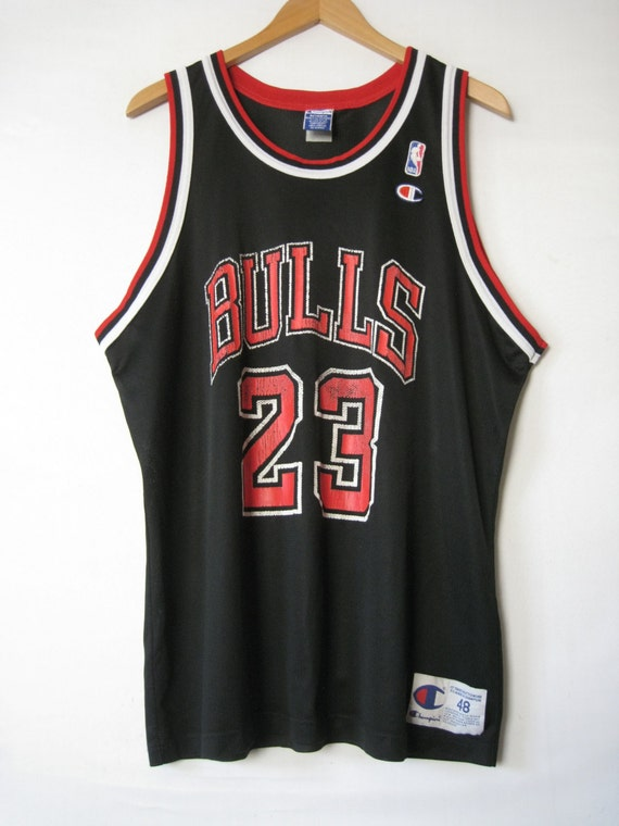90s Chicago BULLS Jersey Tank Shirt Michael JORDAN by TheSavvyBum