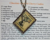 Brown Leather Book Necklace - Kitchen Encyclopedia