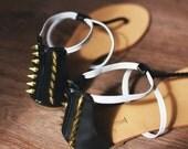 Studded Sandals SPIKES Black White Beige Thongs