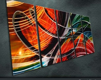 "Original Modern Metal Wall Art Abstract Painting Sculpture Indoor Outdoor Decor "" Symphony "" by Ning"