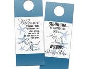 Modern Starfish Destination Door Hangers for seaside tropical beach wedding - Bridal Door Hanger for Guests or Welcome Bags