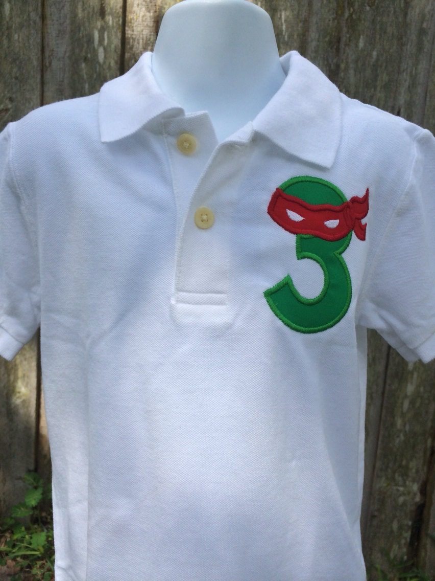 Ninja turtles inspired personalized birthday by ourlilbowtique for Where can i buy ninja turtle shirts