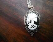 skull cameo pendant