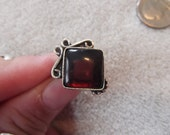 Handcrafted Ring-SS MARKED 925 - Amethyst-Size 6 -R144
