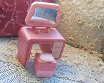 Barbie Dream House Vanity and Stool 1983 /Childhood Memories :)