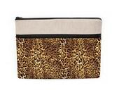 "Laptop sleeve, Macbook Pro 13"" case, 13 Macbook Air leopard bag, Macbook Pro Retina case, zipper pocket animal skin cheetah print"