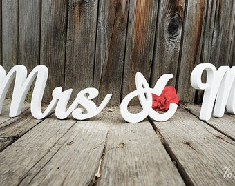 Wedding Sign Mr & Mrs wooden letters table decor Wedding gift