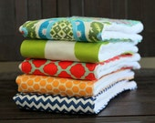 PICK ANY FIVE baby burp cloths - set of 5 {choose colors}