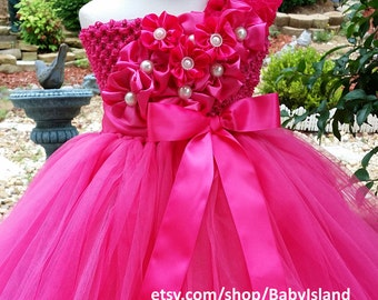 Flower girl tutu dress, 1st Birthday girl tutu, all size newborn-8yr, baby tutu, girl tutu, toddler dress, party pageant birthday wedding
