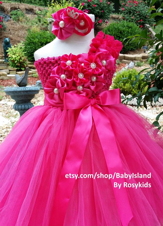 Flower girl tutu dress 1st Birthday girl tutu all size newborn ...