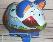Popular items for dinosaur piggy bank on etsy - Dinosaur piggy banks ...