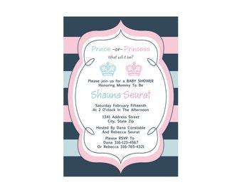 Prince or Princess? Baby Shower Invite