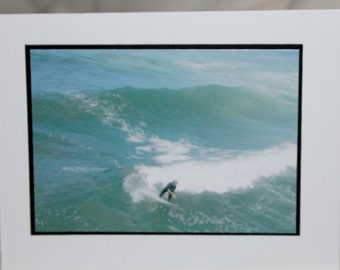 photo card, surfer, Huntington Beach photograph