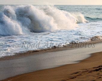 8 x 10 matted photograph, Ocean waves, The Wedge, Newport Beach, California