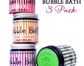 Bubble Bath Dough Sale 3 pack of 4oz Jars Natural SLS Free Bubble Bath.