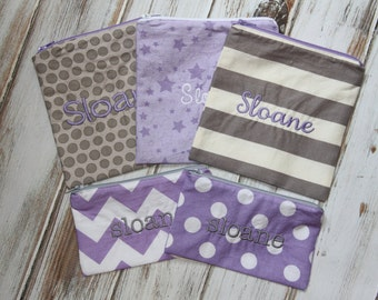 Reusable Snack or Sandwich Bag (Optional Personalization) with Zipper Closure