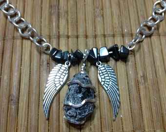 Divinity necklaces - Apache Tear - 5 more options by Rockin' Crystals