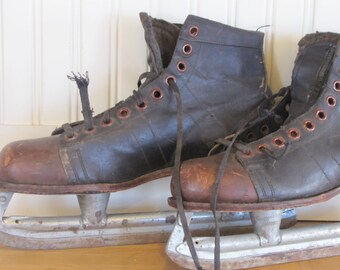 Vintage Canadian Hockey Skates! Canadian, Made in Canada, Hockey Skates, Skates, Leather, Hockey, Mens, Silver Arrow, Good Year Welt