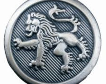 Antique Silver Lion  Holland & Sherry Blazer Buttons