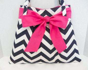 PDF Chevron Purse Diaper Bag Pattern Sewing Handbag Tutorial