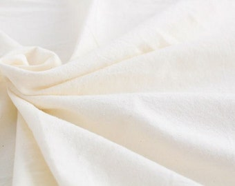 "Prewashed Soft Cotton Cloth Natural Color - 59"" Wide - By the Yard 50324"