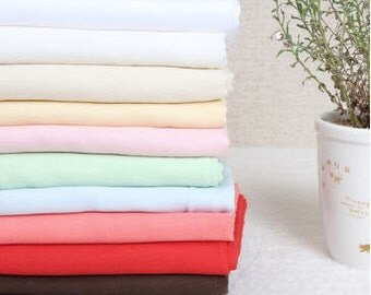 Soft Cotton Gauze 11 Solid Colors By the Yard