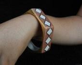 Bracelet: Hand Decorated Porcelain